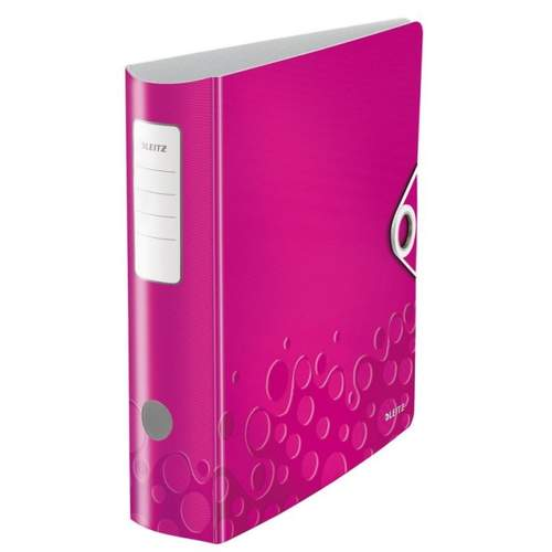 Ordner Active WOW pink metallic LEITZ 1106-00-23 8cm 180°