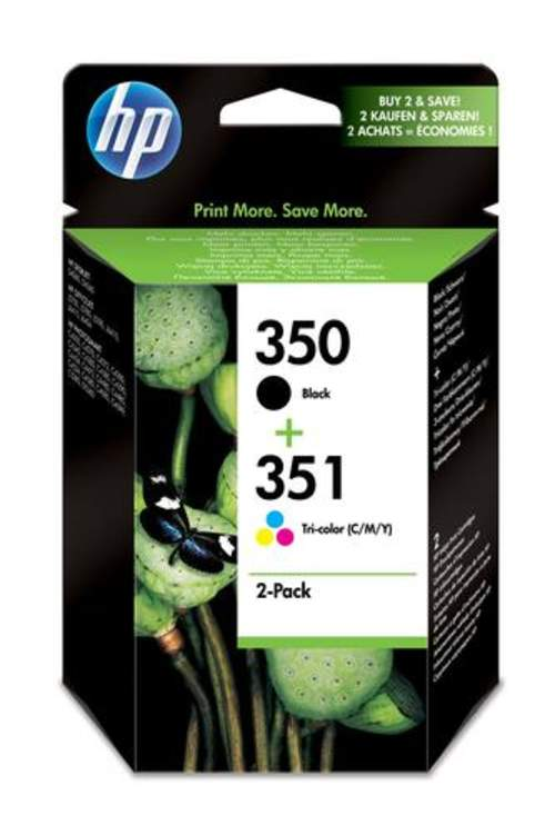 Original HP SD412EE / 350+351 Tinte schwarz, color